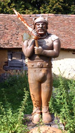 Guerrier gaulois, poterie sculpture art fantastique